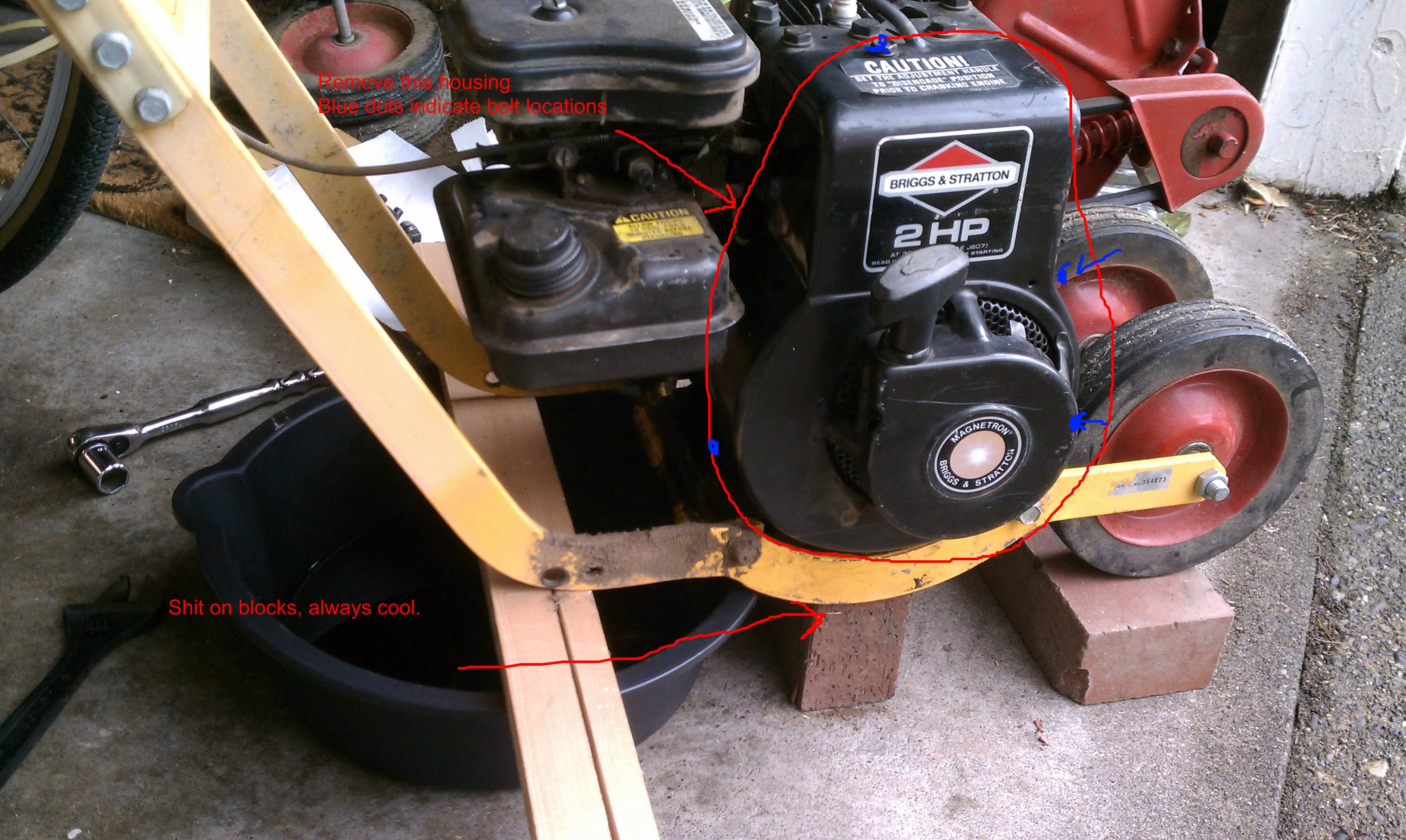 Sticky/Squealing Ratchet Starter Briggs and Stratton